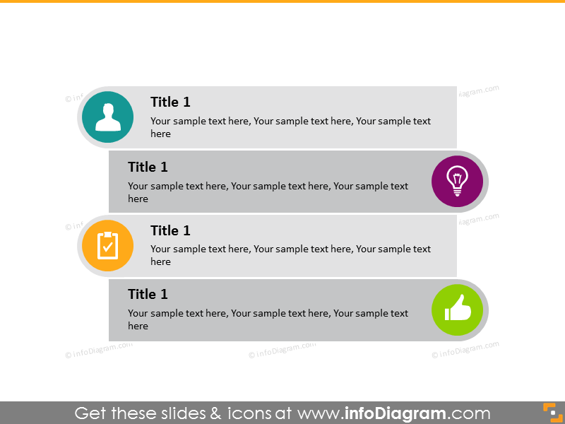 flowchart text list points infographics diagram powerpoint