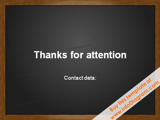 End slide Blackboard Charcoal ppt Template