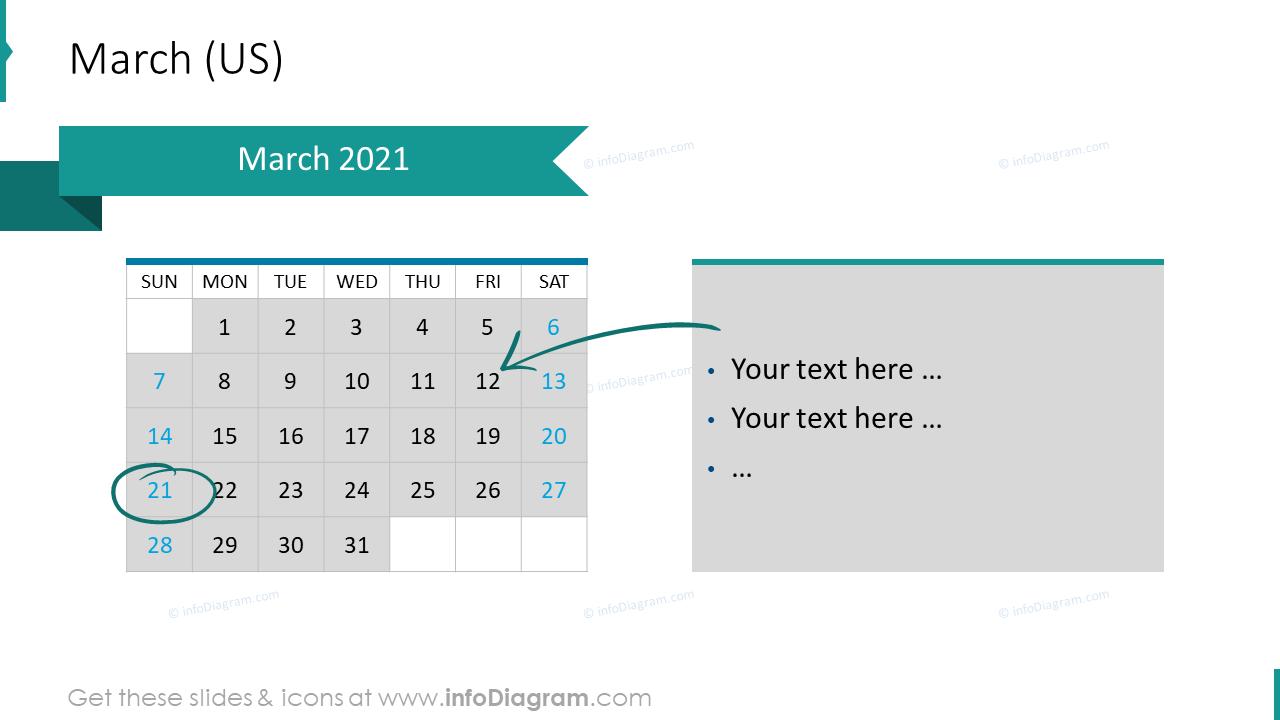March 2020 US Calendars