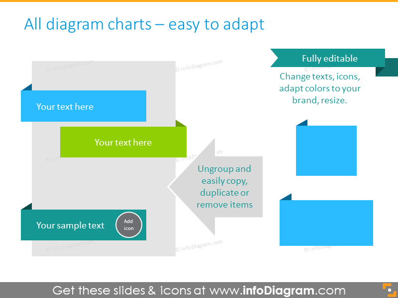 Free Infographics Diagrams and Symbols (PPT icons and shapes)