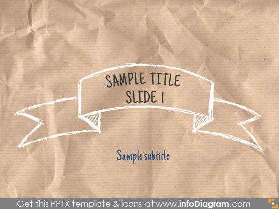 title slide sketch banner white pencil
