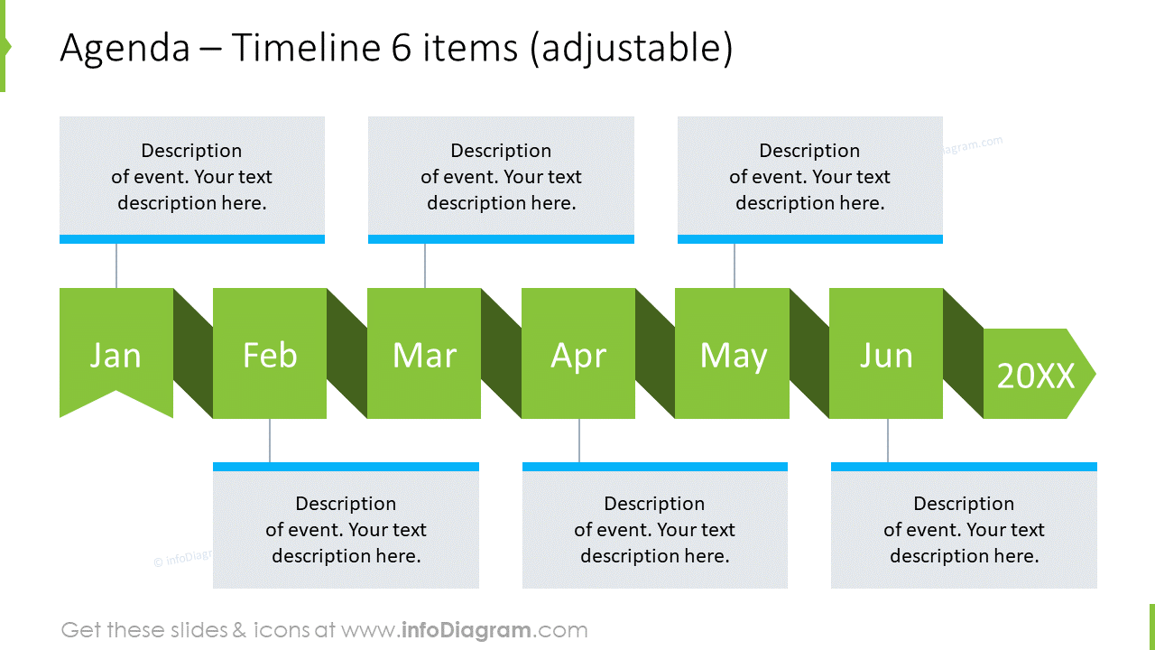 Meeting goals with half a year timeline and a place for description