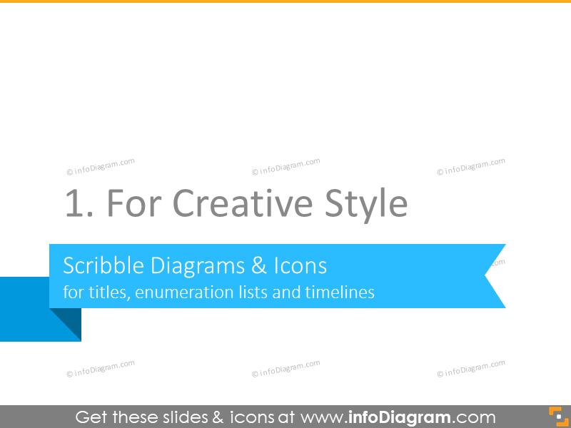 creative slideshare presentation diagram icons title list