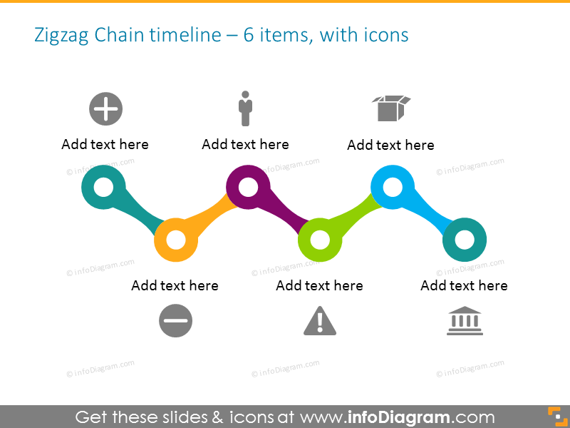 timeline infographic vector 6 steps with icons