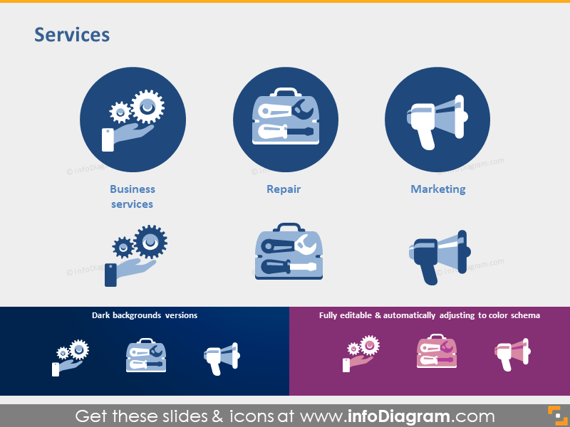 Business Services industries Repair Marketing clipart ppt