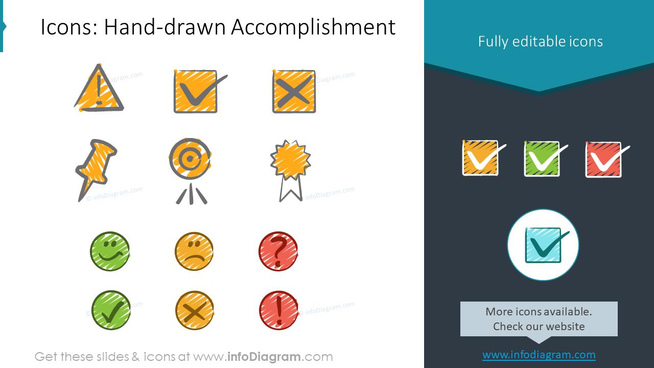 EU Calendars Handdrawn Accomplishement Signs