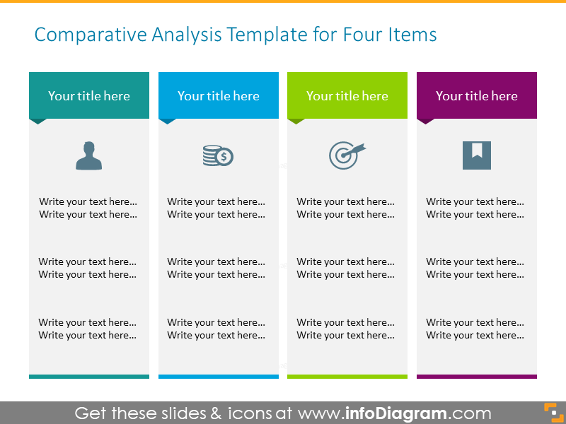 Comparative Analysis Templatefor Four items
