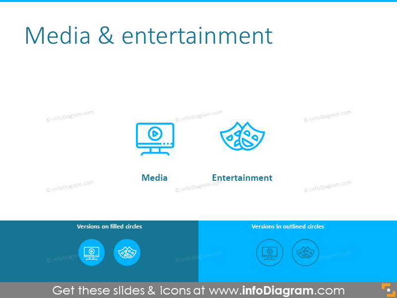 Media and entertainment symbols