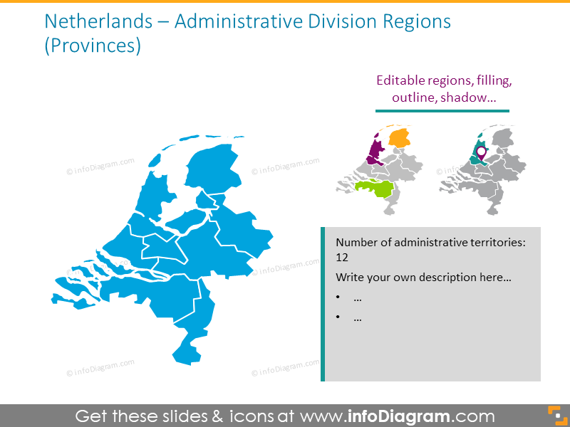 Netherlands administrative division map