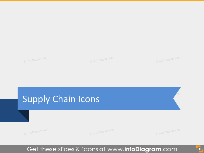 supply chains icons elements pins ppt editable diagrams