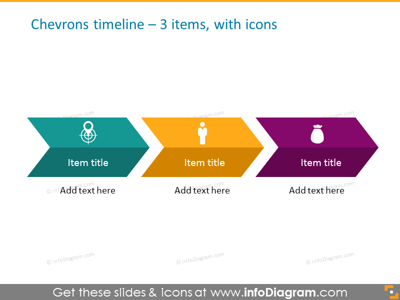 timeline infographictemplate for 3 items with icons