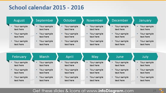 School calendar 2015 2016 timeline monthly