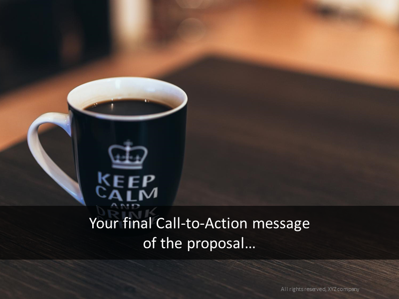 Call to action transition slide