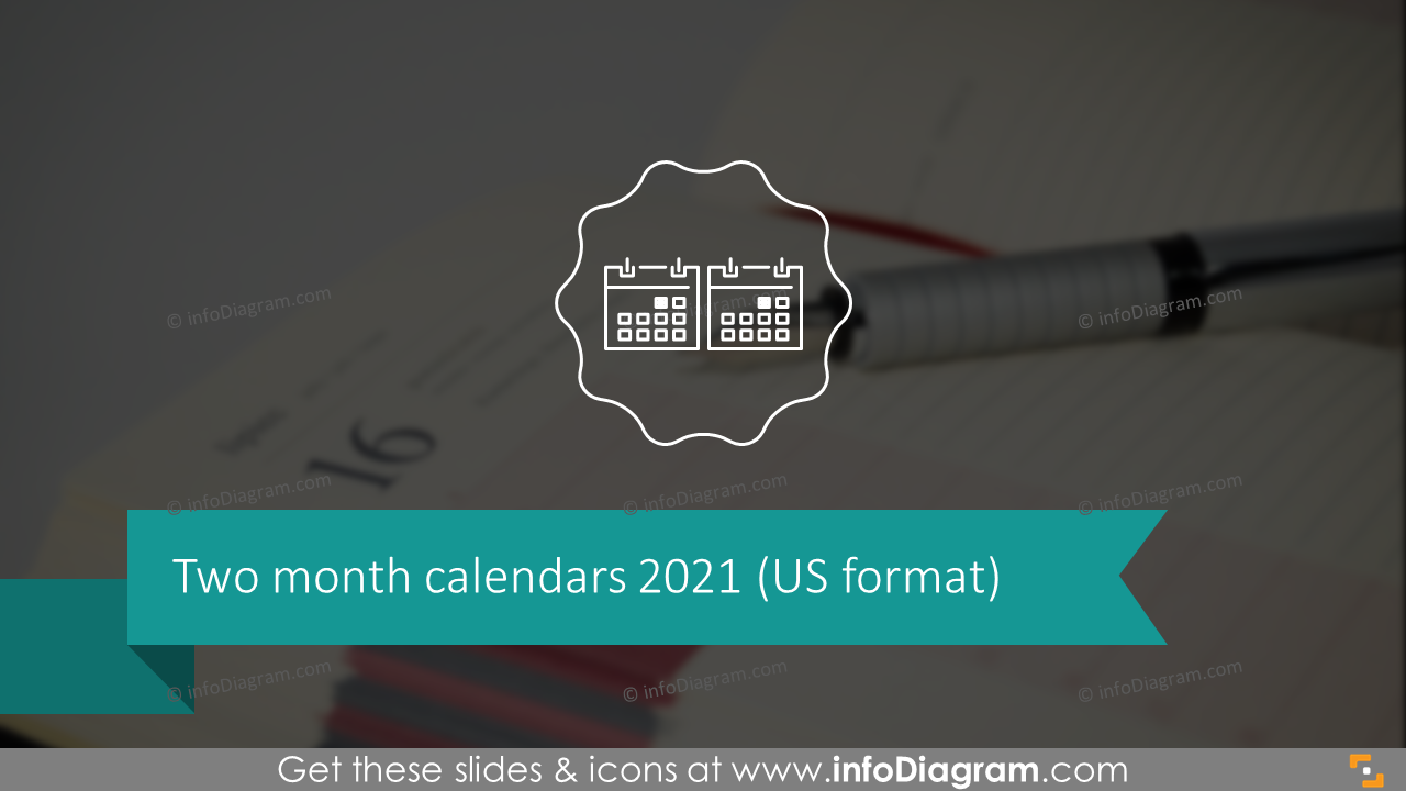 Two Month Calendars 2020 US