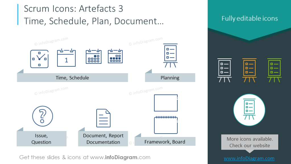 Time, schedule, plan, document, issue, framework icons template