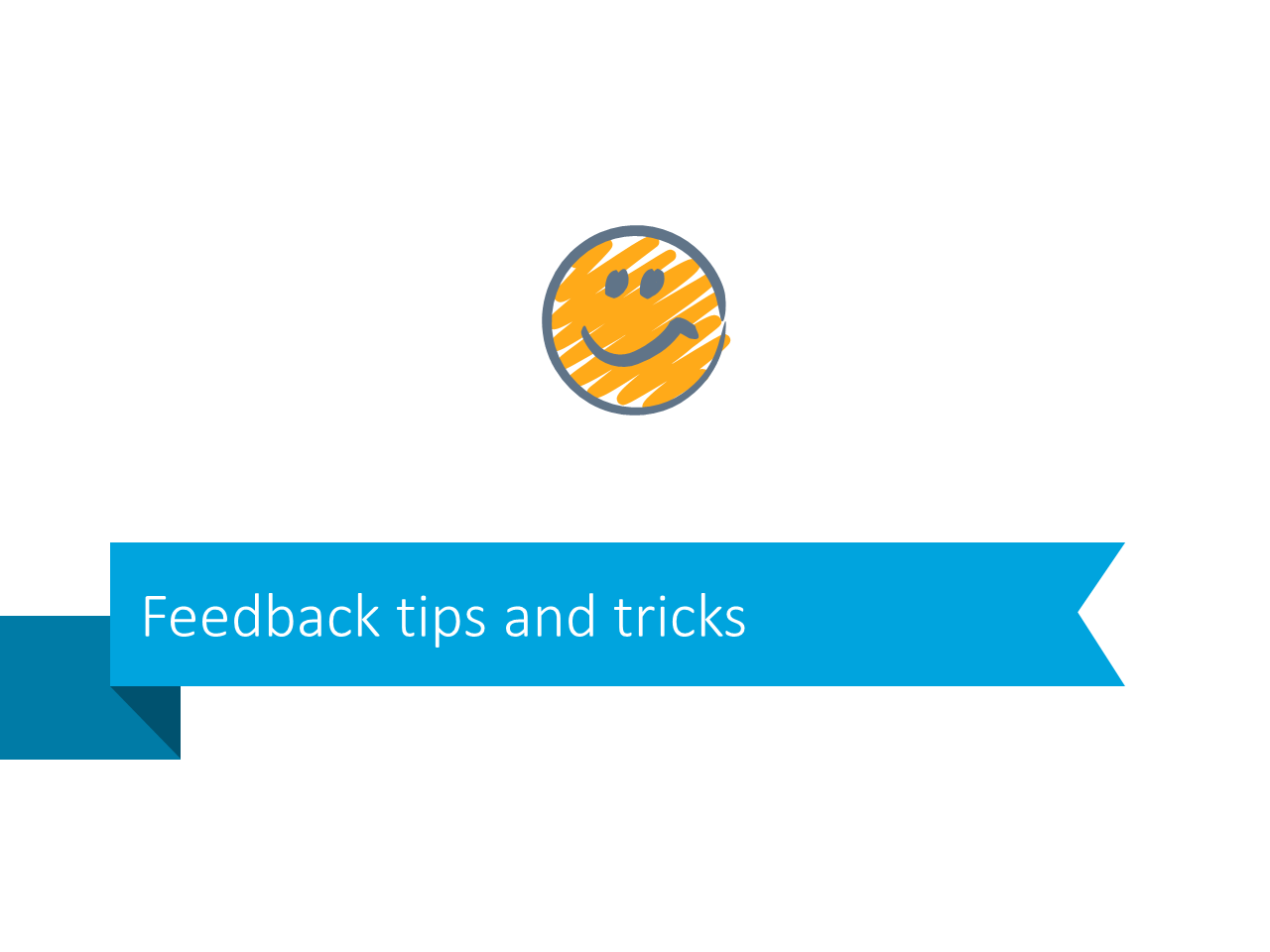 Tricks feedback tips powerpoint slide stripe