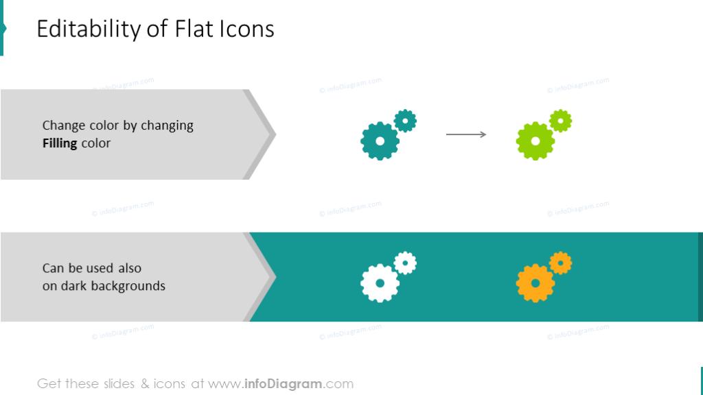 Editable flat icons
