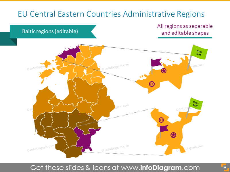 EU Central Eastern Countries administrative regions map