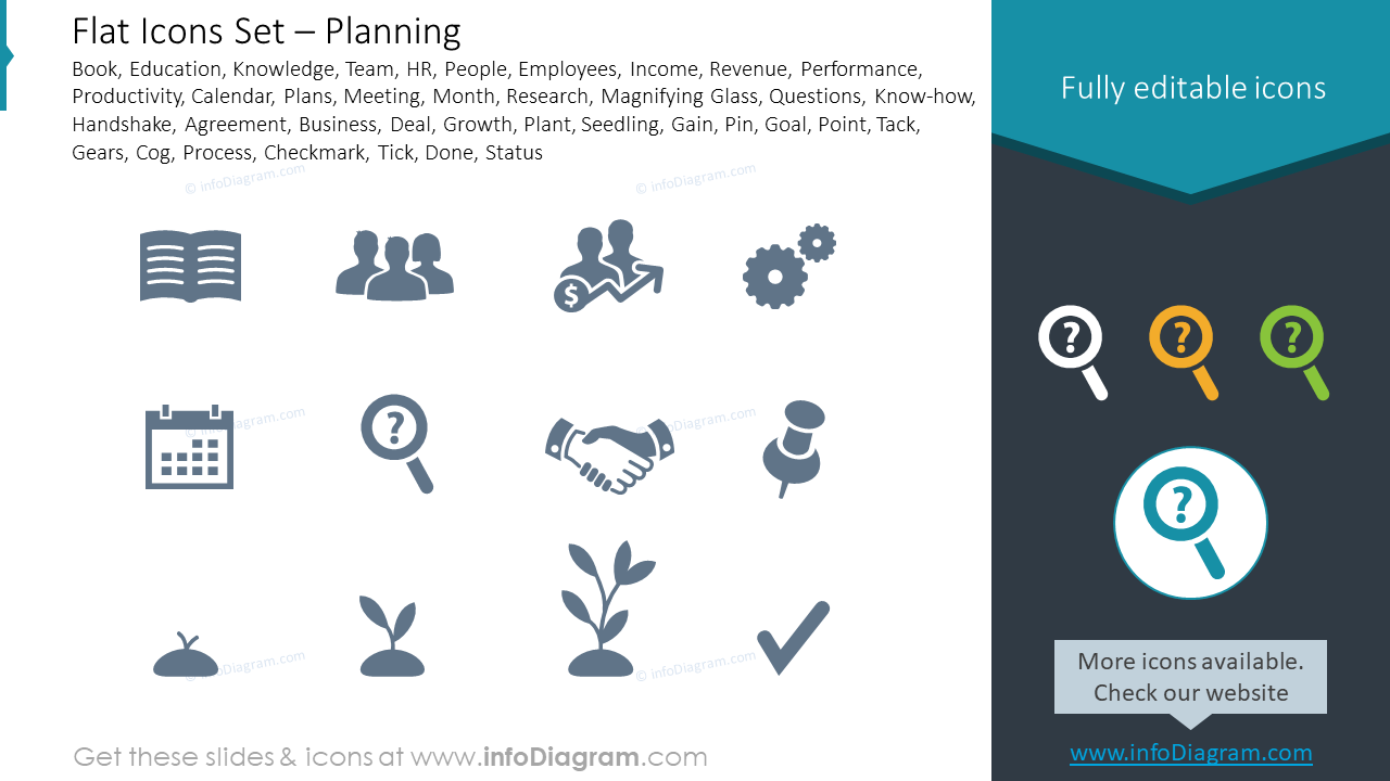 Flat Icons Set and Planning