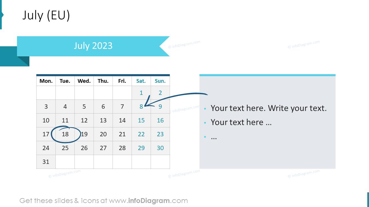 August 2022 EU Calendars