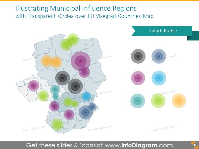 Example of municipal regions graphics
