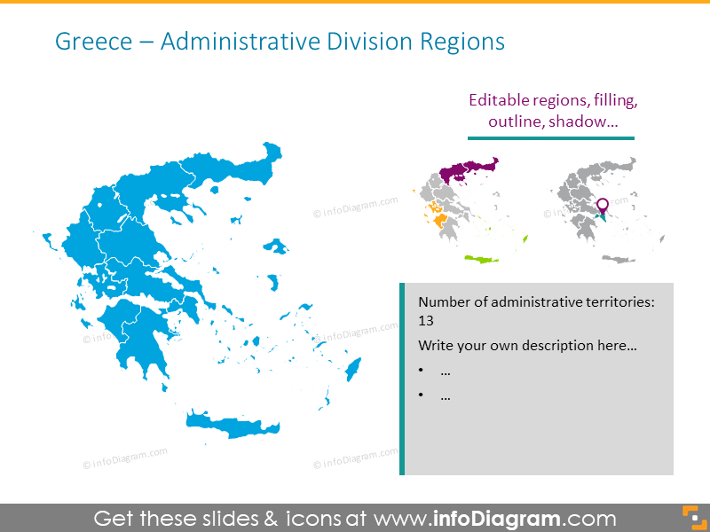 Greece administrative division map