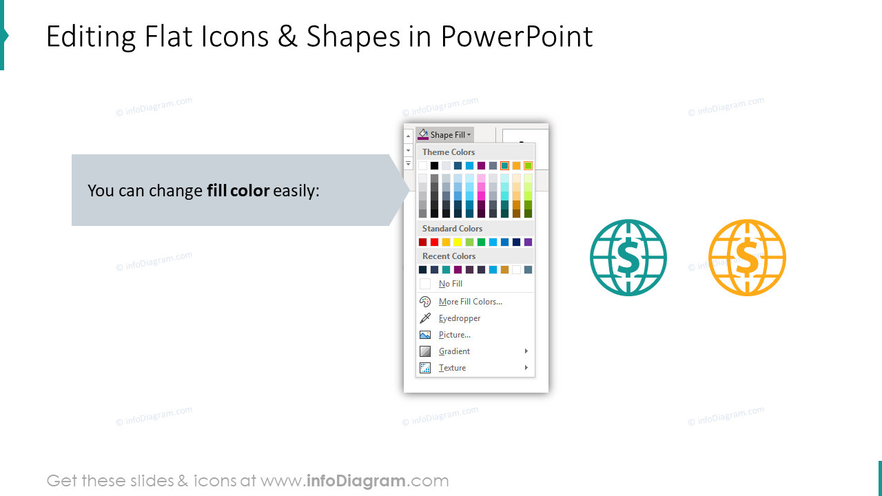 Flat Icons: Trade Finance, Letter of Credit, Document, Goods Delivery