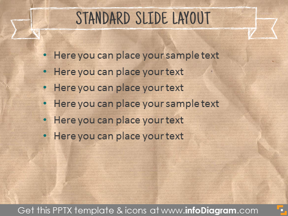 standard text slide layout template brown back