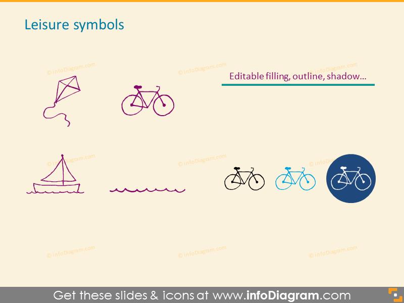 Leisure symbols