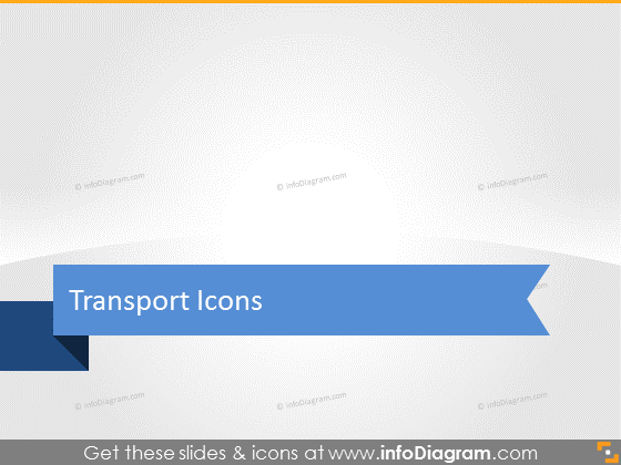 Transport logistic icons powerpoint infographics