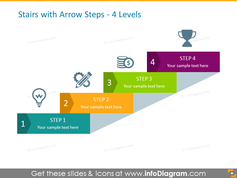 22 Modern Steps Diagram Infographics Powerpoint Template
