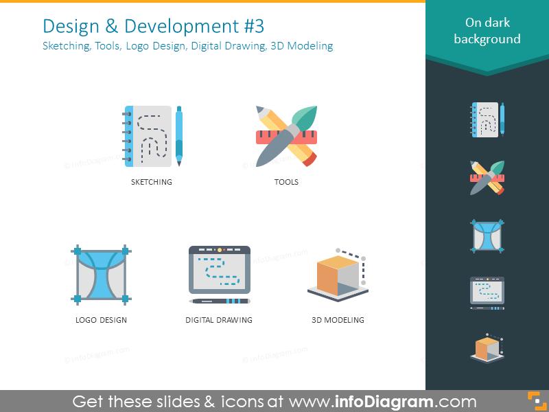 sketching, tools, logo design, digital drawing, 3D modeling