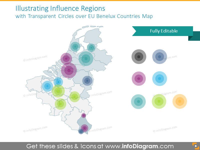 Influence regions with transparent circles