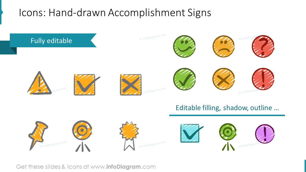 US Calendars Handdrawn Accomplishement Signs