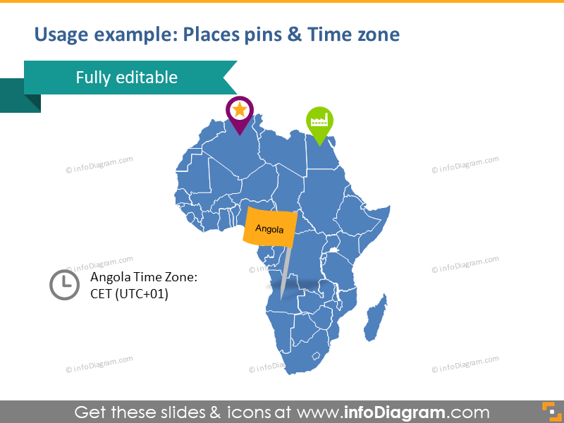 Map African Route Arrows Algeria Namibia South Africa PPTX