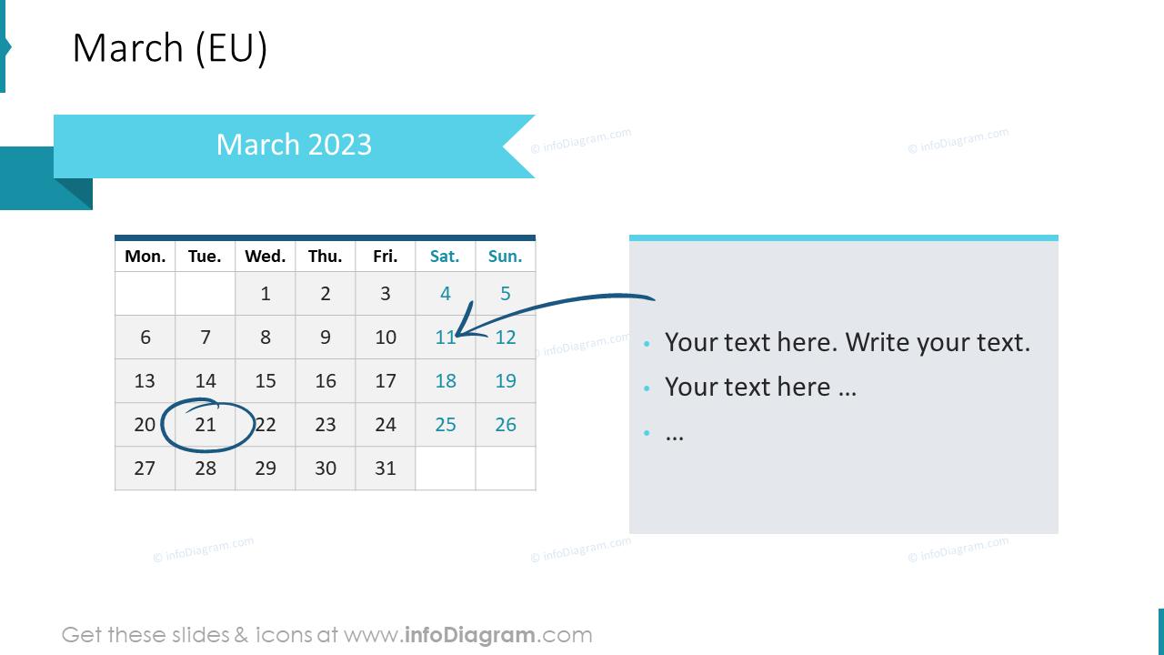 April 2022 EU Calendars