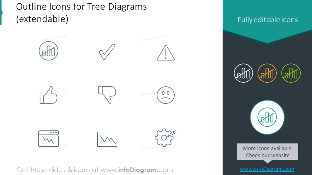 Outline symbols for tree diagrams