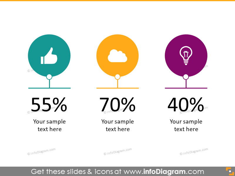 Creative Slideshare Presentation PPT template Infographics icons