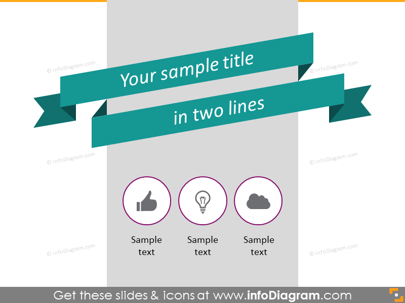 flat banner retro stripe title slide template infographics ppt