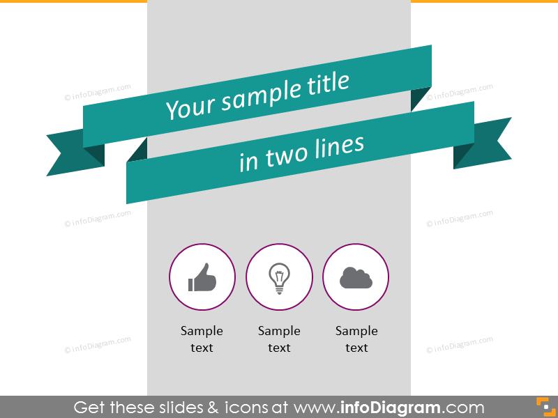 flat banner retro stripe title slide template infographics ppt