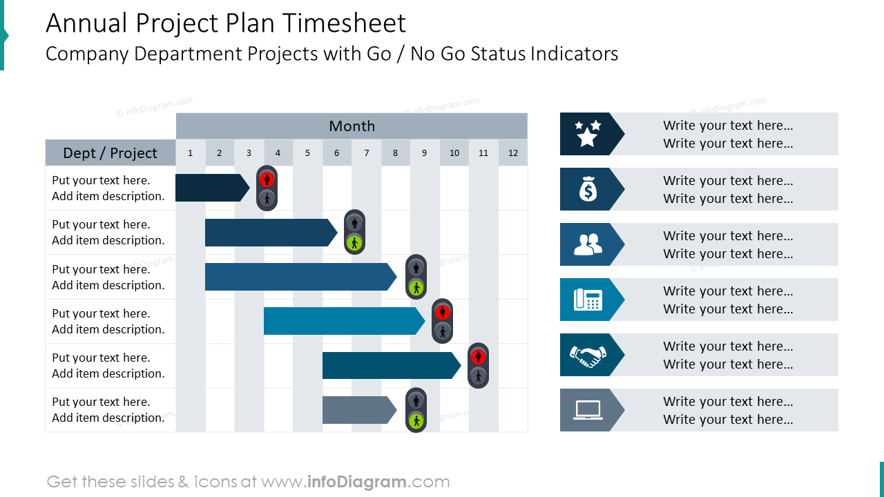 Annual project plan timesheet