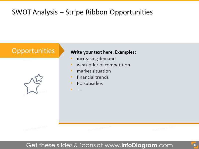 Opportunities SWOT Analysis - stripe ribbon
