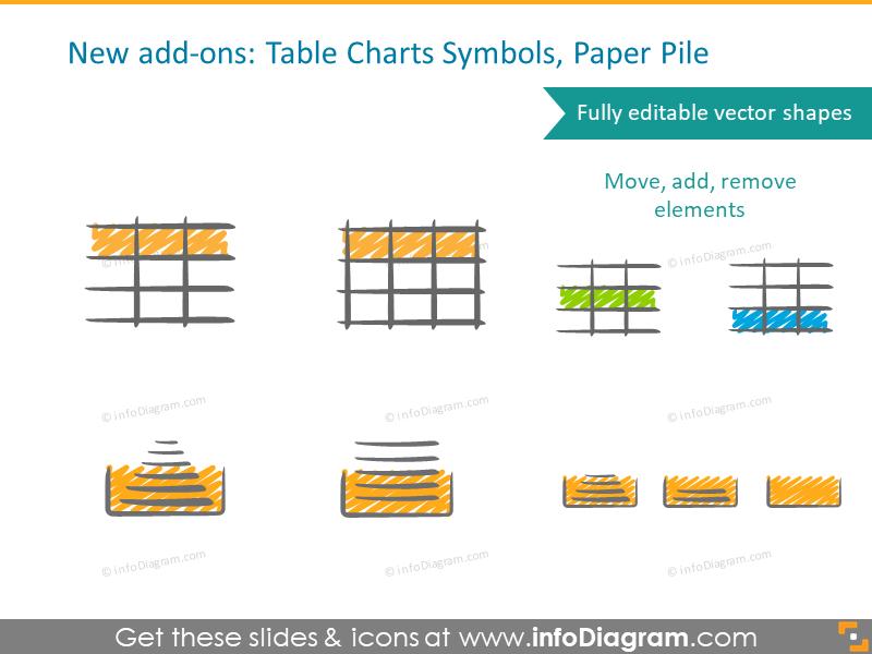 Handwritten Chart Scribble Symbols For Powerpoint