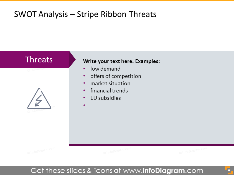 Threats SWOT Analysis - stripe ribbon