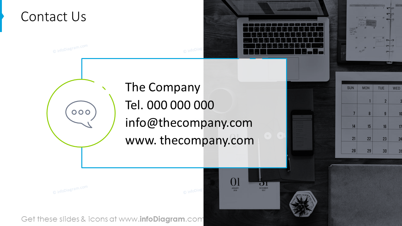 Contact information slide