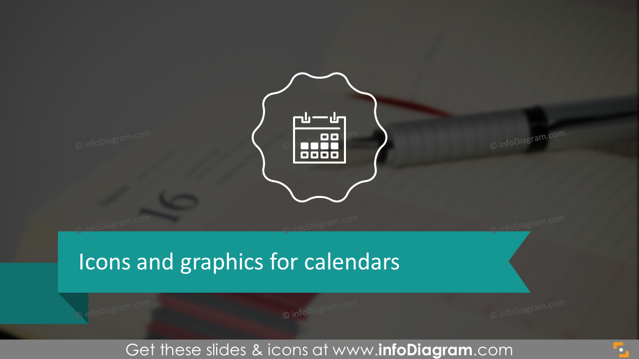 Icons and graphics for calendars: examples