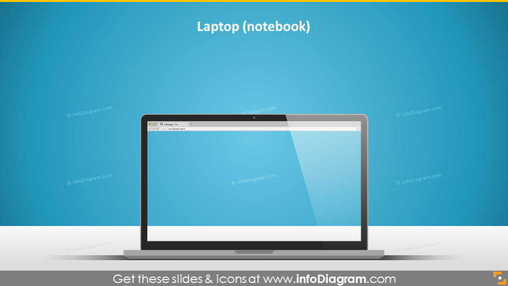 laptop notebook display imac desktop screen ppt vector clip art