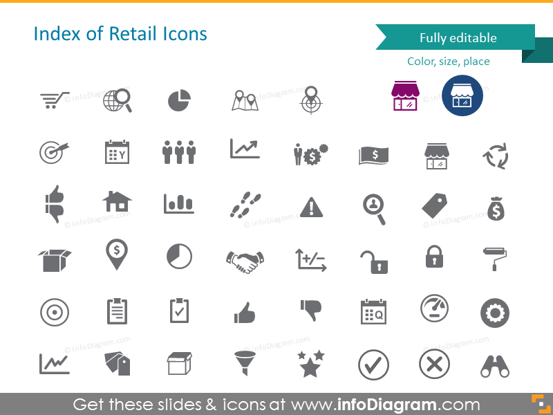 Index of retail icons