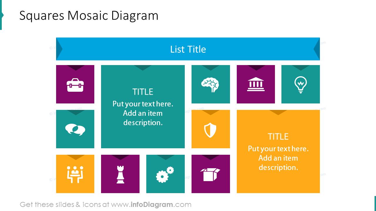 Squares mosaic diagram