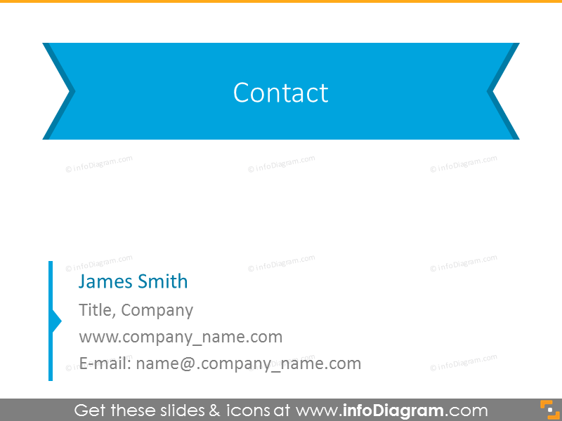 Contact information monochrome version